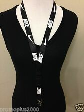 New! Nike Lanyard Black Keychain, ID Badge, Cell Phone Holder
