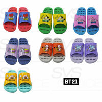 BTS BT21 Official Authentic Goods Bathroom Slippers Free Size 7Characters