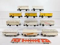 CF963-2# 11x Märklin H0/AC Güterwagen 307 DB: Jamaica+Chocolat Tobler etc Mängel