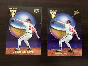 1993 Fleer Ultra Strike Out King John Smoltz 2 card lot #5 of 5 Atlanta Braves