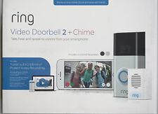 RING Video Doorbell 2 Bonus Chime 1 Year Ring Video Cloud Recording 2 Faceplates
