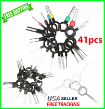 41PCS Wire Terminal Removal Tool Car Electrical Wiring Crimp Connector Pin Key