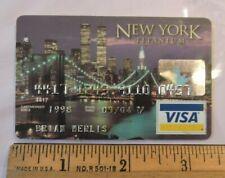 Rare 1998 New York City NYC World Trade Center Visa Titanium Credit Card