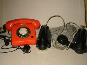3 orig.alte DDR Telefone  ( 2 x  Haustelefon aus Bakelit )