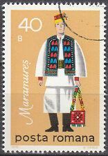 Rumänien gestempelt Tracht Kleidung Textil Brauchtum Tradition Maramures / 599