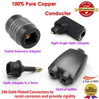 Mutiple Choice: Digital TOSlink Fiber Optical Digital Audio SPDIF Adapter AU Lot