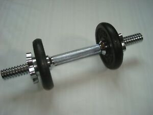 York Barbell Dumbbell Chrome Plated Hand Weight Bar with 1.25 kg Weights