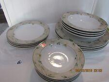 SET for 4  Studio Nova BLOSSOM TIME Dinner,Cake Plates Berry and Soup Bowls