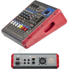 Pro 5 Channel 1600 Watts Power Mixer 2 in 1 Amplifier + Sound Mixing Console
