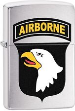 Zippo 2016 Catalog NEW US Army 101st Airborne-Eagle Brushed Chrome Lighter 29185