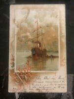 1901 Penmaenmawr England Postcard Cover To Switzerland Roads Greenwich Boat