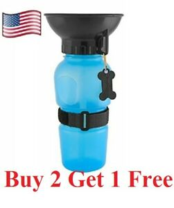 Dog cat pet  Mug Portable Travel Auto  Bottle Water Bowl Fits Cup Holder feeder
