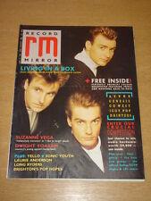 RECORD MIRROR 1987 JUNE 27 LIVING IN A BOX SUZANNE VEGA YELLO GENESIS GO WEST