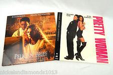 Pair Laserdisc Movies Pelican Brief & Pretty Woman Julia Roberts Excellent Cond