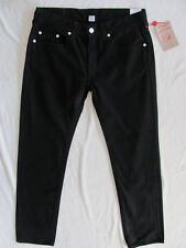 True Religion Skinny Jeans-Black/Grey Stitching- Jet Black-Size 36 -NWT $180