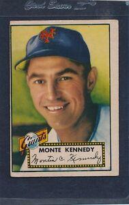 1952 Topps #124 Monte Kennedy Giants Fair 52T124-81716-1