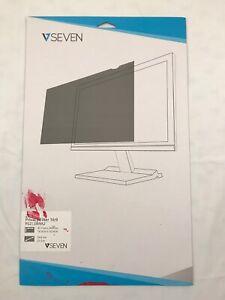 """V7 PS21.5W9A2 21.5"""" Privacy Screen Filter Anti-Glare Protector Film Black Screen"""