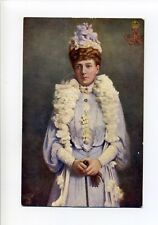 British Royalty, Queen Alexandra with gloves, Tuck's antique postcard
