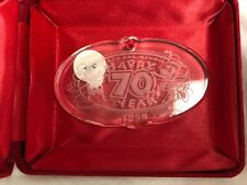 Waterford Crystal 1998 Disney Mickey & Minnie Mouse 70 Anniversary Xmas Ornament