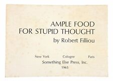 Robert Filliou - Ample Food for Stupid Thought - FIRST EDITION on Postcards 1965
