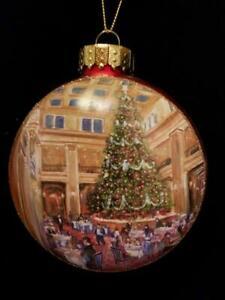 LG RED BLOWN GLASS CHICAGO CHRISTMAS ORNAMENT~MARSHALL FIELDS WALNUT ROOM~NWT