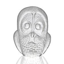 Royal Krona - Mats Jonasson - Glass Scandinavian Owl Figure - 1970s Swedish