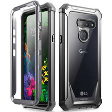 LG G8 ThinQ Rugged Clear Case,Poetic Hybrid Shockproof Bumper Cover Black