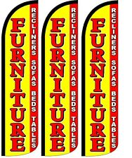 Furniture Yellow Windless King Size Swooper Flag Sign Banner Pk Of 3