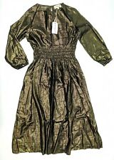 April Showers by Polder Sissy CL Dress Size 8 (8 Year Old) Gold/Black