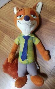 "Disney Zootopia Nick Wilde Fox Plush 10""  Doll Stuffed Animal"