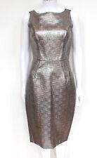 Dolce Gabanna Plateado de Cuero Con Textura Vestido 40 Reino Unido 8