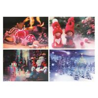 Set of 4 Holographic 3D Christmas Dinner Placemats Table Place Mats Xmas Gift