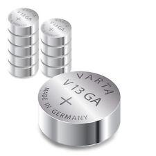10x Varta V13GA / AG13 Knopfzelle LR44 | 155mAh 1,5V Alkaline | 10 Stk