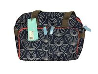Orla Kiely For Target Navy Blue Floral Weekend Travel Gym Diaper Bag Sachel Tote