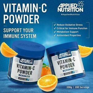 Applied Nutrition Micronised Vitamin C 1000mg Per Serving / 200g- 200 Servings