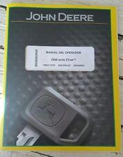John Deere Z500 Series Ztrak Mower Owner Operator Manual Omuc13767 Spanish Book