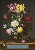 Ambrosius Bosschaert: Bouquet of Flowers in a Glass Vase. Fine Art Print/Poster