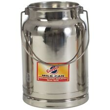 5 litre Milk Billy Can & Lid Stainless Steel Cow Dairy Goat Sheep Bucket and Lid