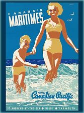 Canada's Maritimes  Canadian Pacific Canada Vintage Travel Advertisement Poster