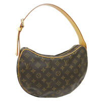 LOUIS VUITTON CROISSANT MM SHOULDER BAG FL1002 PURSE MONOGRAM M51512 35250