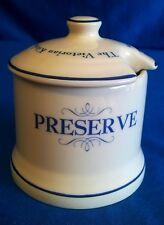 1869 VICTORIAN KITCHEN POTTERY CO PRESERVE POT OR JAM JAR BLUE