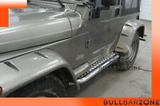 JEEP WRANGLER 1997-2006 MARCHE-PIEDS INOX PLAT / PROTECTIONS LATERALES