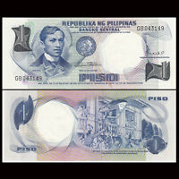 Philippines 1 Piso Banknote, 1969, P-142, UNC, Asia Paper Money