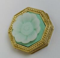Estee Lauder 2007 Solid Perfume Compact Octogon Flower Cameo MIBB Youth Dew