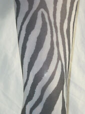 Black White Zebra Animal Skin Print Tights. 10-14 New fancy dress 60 den