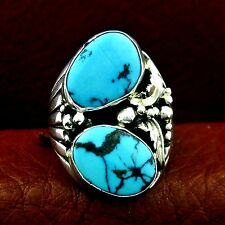Sterling Silver Turquoise Ring  Size 9.5   Native American Made --- R70 A T