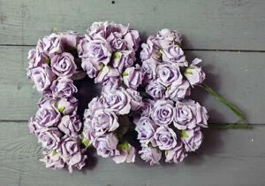 6 x Bunches of Lilac Foam Roses