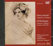 CD album: Fanny Hensel: Lili Boulanger: Helmut Wolf. SDR. K
