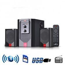 beFree Sound BFS40 2.1 Channel Surround Sound Bluetooth Speaker System in Red