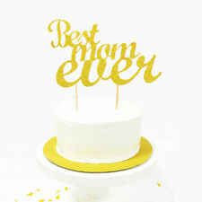 Best Mom Ever Cake Topper Cupcakes flag Mom's Birthday wedding party FadNMCA V T